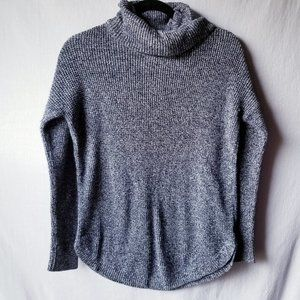 Old Navy Cowl Neck Sweater Gray Blue Long Sleeves